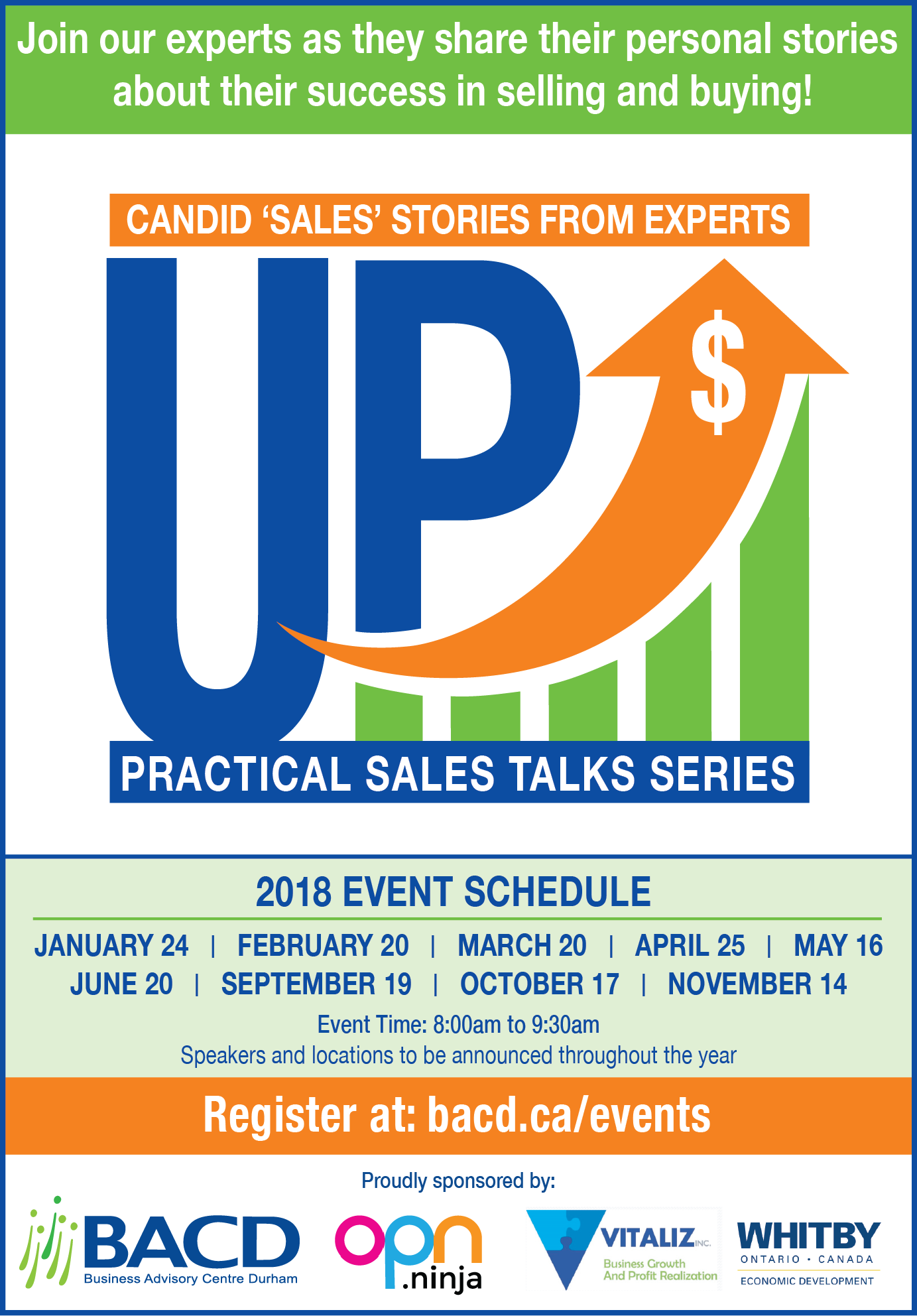 Up! Sales Talks Flyer2018