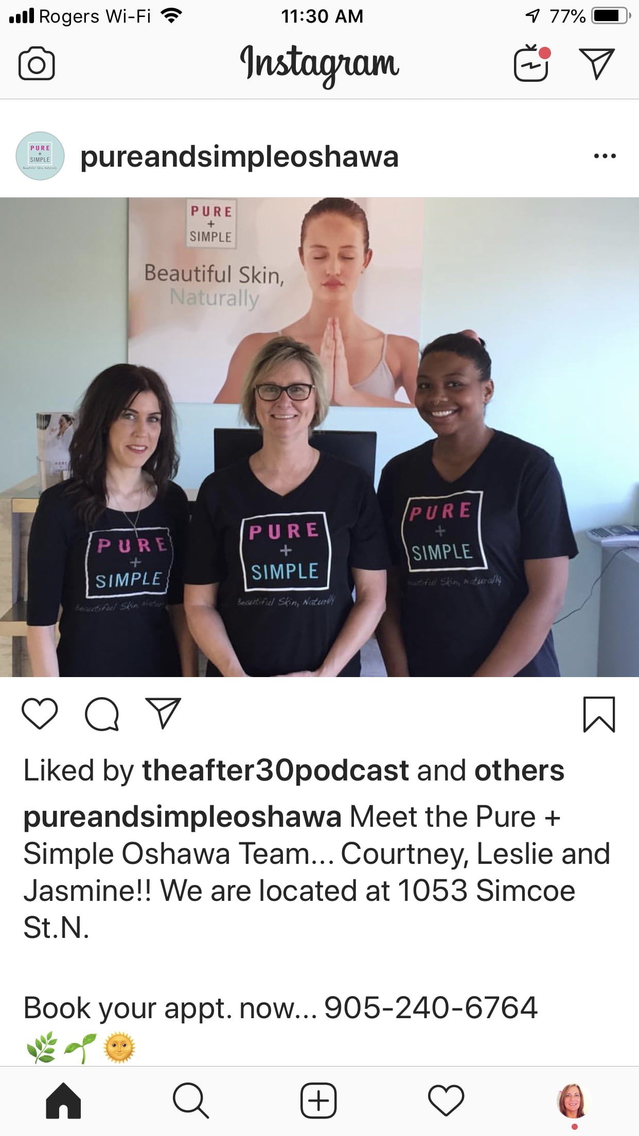 The Team at Pure + Simple Oshawa