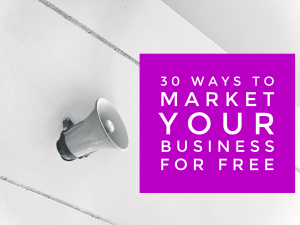 30 ways to market for free