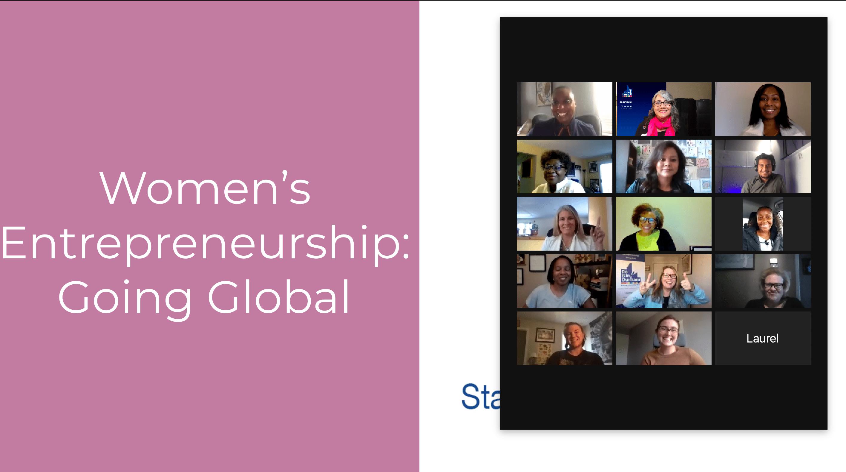 Screen shot of women entrepreneurs